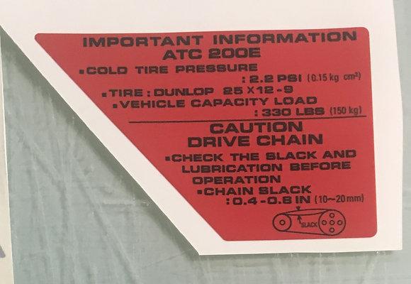 1982-83 Big Red Side Warning