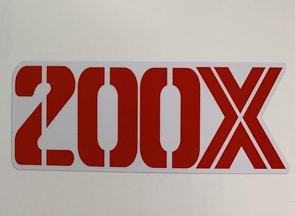 1987 200X Rear Fender Decal