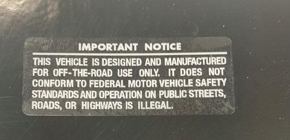 Important Notice White