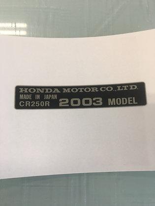 2000-Newer CR250R Frame Year Decal