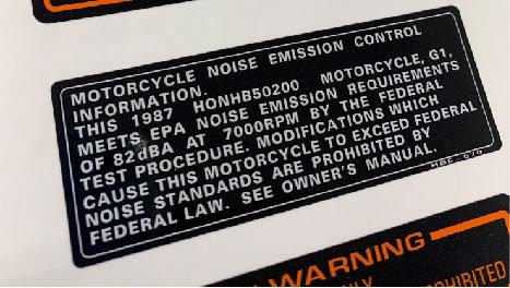 1987 ATC200X Emission