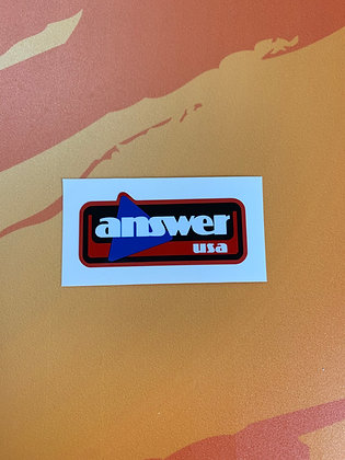 Answer Triangle Handle Bar Decal