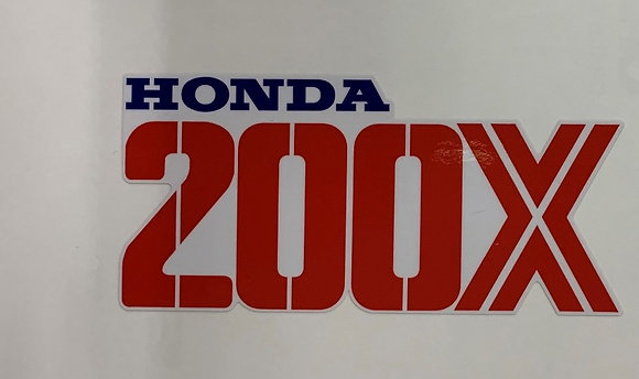 1987 200X Front Fender Decal