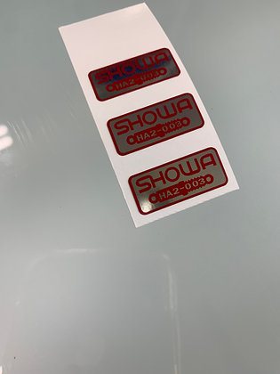 Fork Shock Decals HA2-003