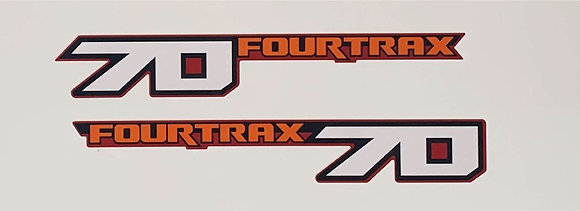 1986 TRX70 Side Fourtrax Decals