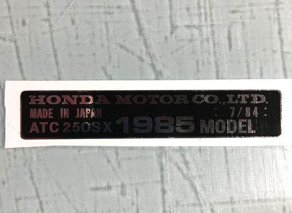 1984 ATC200S Year Decal
