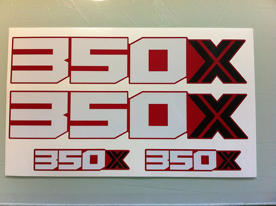 86 Honda 350X rear fender decal for RED Fenders