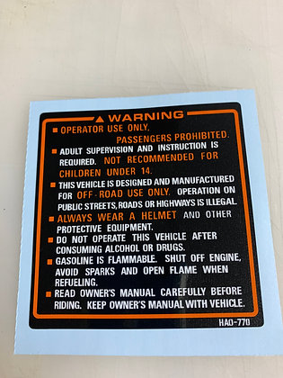 Tank Warning 1987