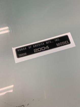 TRX450R Year Decal