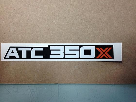 1985 350X Rear Fender Mud flap decal