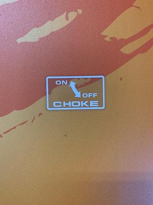 Custom TRX250X TRX300EX Choke Decal