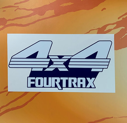 Custom 1988 Red TRX300 Front Decal Blue