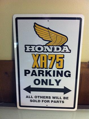 XR75 Honda Sign