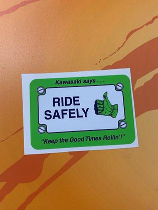 Kawasaki Ride Safely