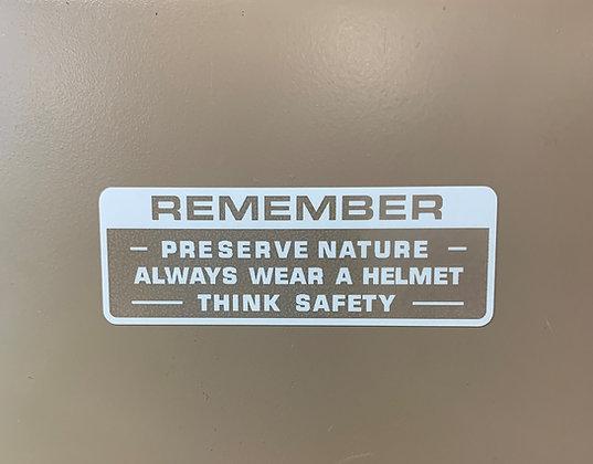 Honda Remember Warning White
