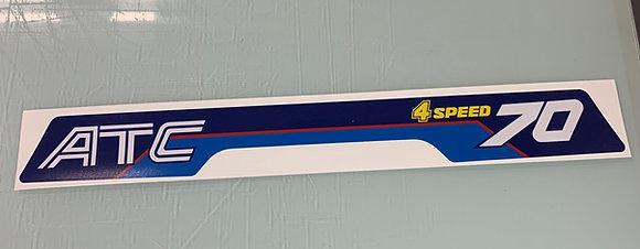1984 ATC70 Rear Decal