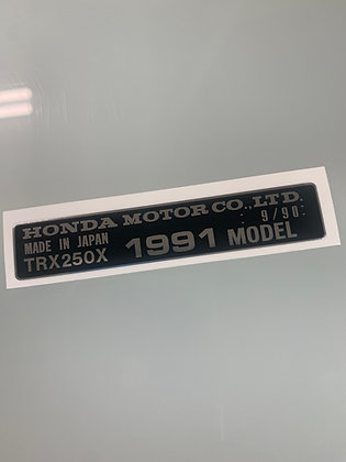 1991 TRX250X Year Decal