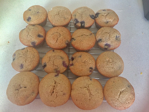 Yummy Blueberry Muffins with Berry-delicious Frosting