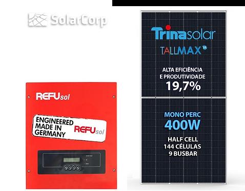 Kit Gerador de Energia Solar 4000 Wp (TRINA 400W + REFUSOL)