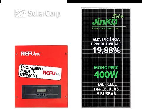 Kit Gerador de Energia Solar 6400 Wp (JINKO 400W + REFUSOL)