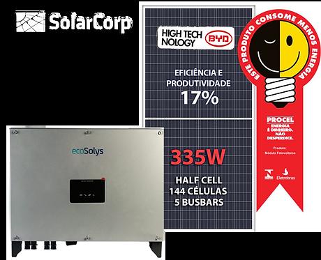 Kit Gerador de Energia Solar 10050 Wp (BYD 335W + ECOSOLYS)