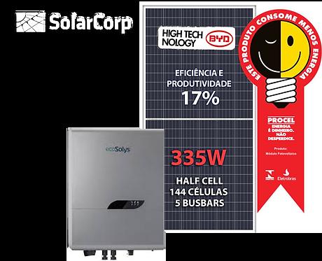 Kit Gerador de Energia Solar 6030 Wp (BYD 335W + ECOSOLYS)