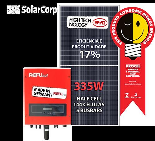 Kit Gerador de Energia Solar 4020 Wp (BYD 335W + REFUSOL)