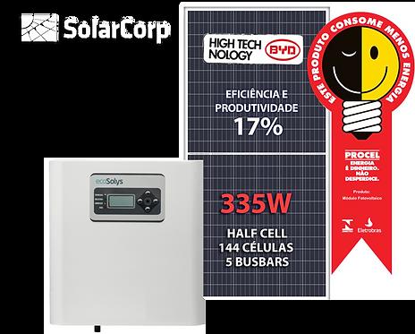 Kit Gerador de Energia Solar 2680 Wp (BYD 335W + ECOSOLYS)