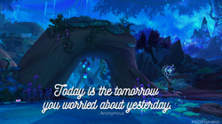 Today is the tomorrow you worried about