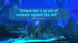 """""""Comparison is an act of violence agains"""