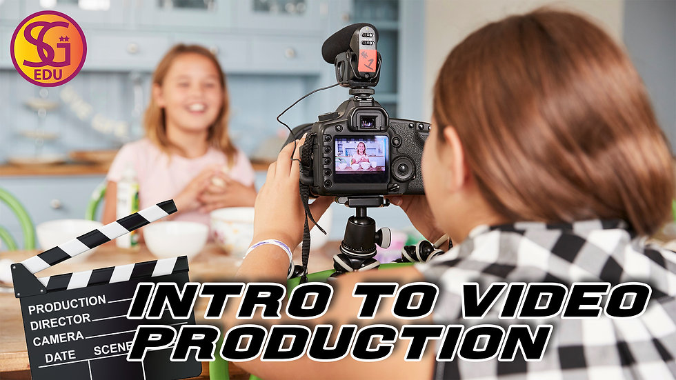 Intro to Video Production - Ages 8 to 12