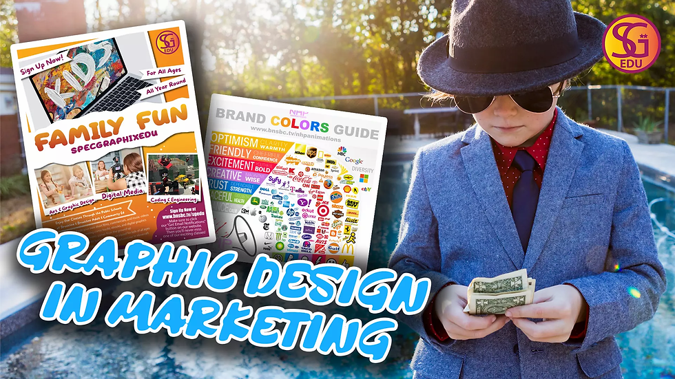 Graphic Design in Marketing - Ages 7 to 12