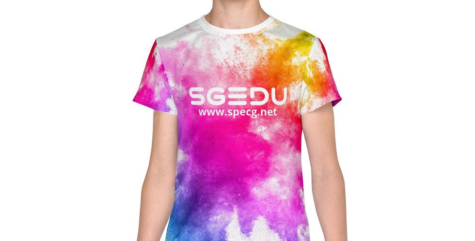 Youth Rainbow Paint Splatter t-shirt