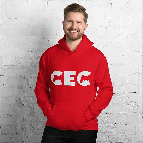 CEC White Text Unisex Hoodie