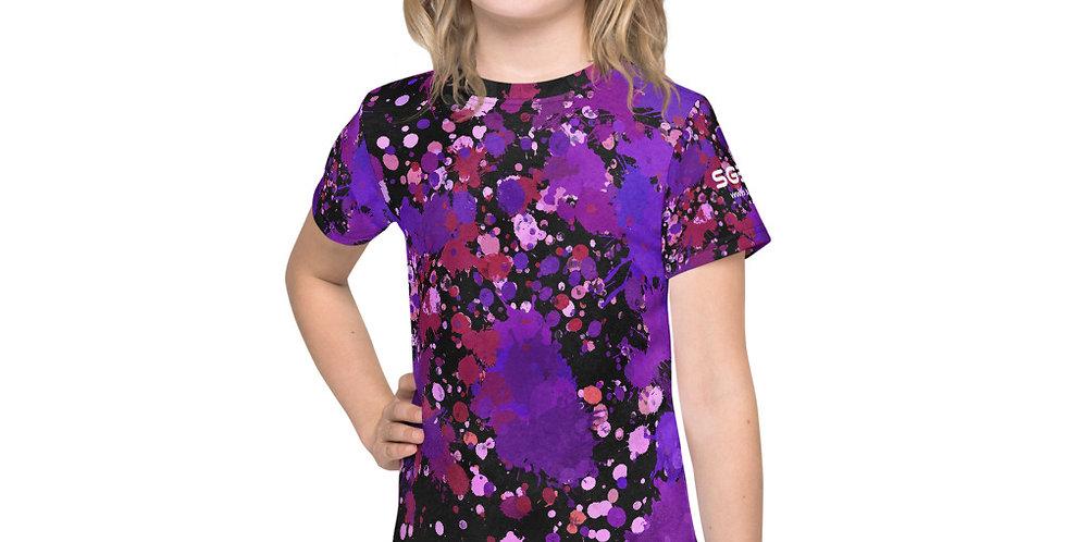 Kid's Purple Paint Splatter t-shirt