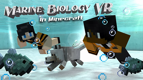 Marine Biology in Minecraft poster (comp