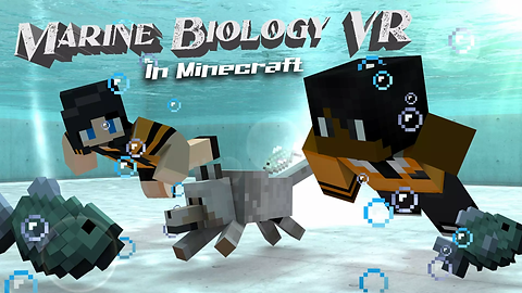 Marine Biology in Minecraft poster (comp