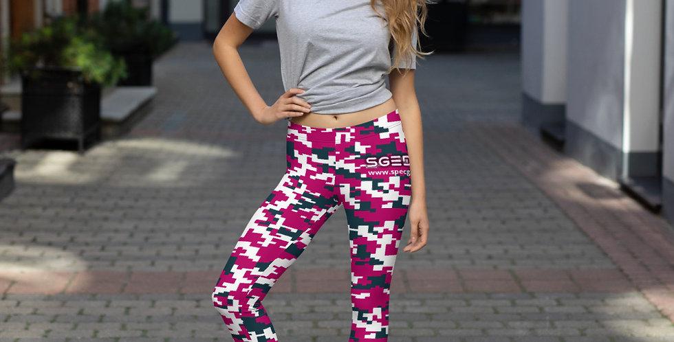 Women's Pink Digital Camo Leggings