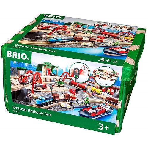 BRIO (ブリオ) WORLD レール&ロードデラックスセット [ 木製レールおもちゃ ] 33052
