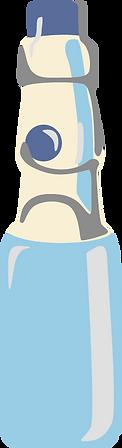 Graphic illustration of Japanese Ramune bottle in blue