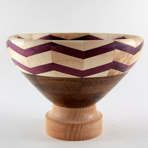 Purple Zig Zag Bowl
