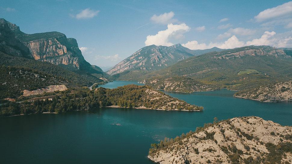 Lago desde drone
