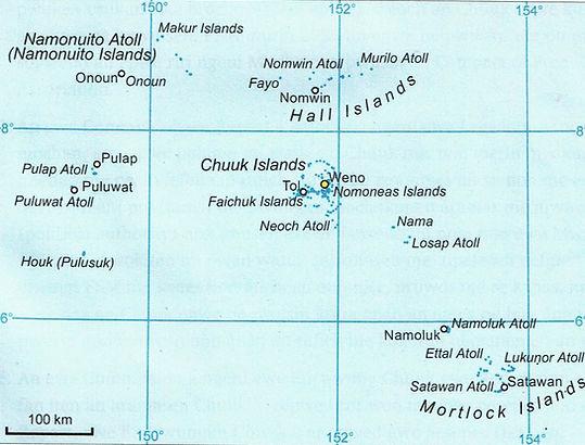 Map of Chuuk