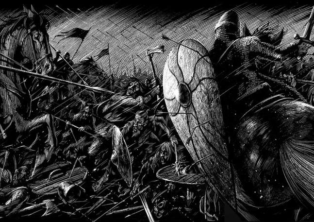 Irish Battle with Normans
