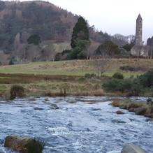 Glenealo river meets Glendasan river