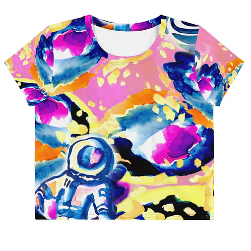 GLAM GALAXY - Pink Atmosphere - All-Over Print Crop Tee