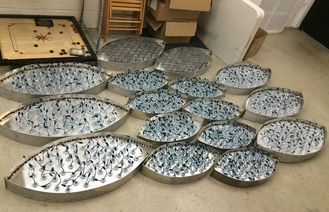 Eyes fabrication during the LED wiring and construction