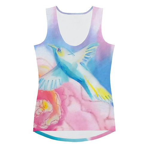 Bird and Flower Soft Tank Top