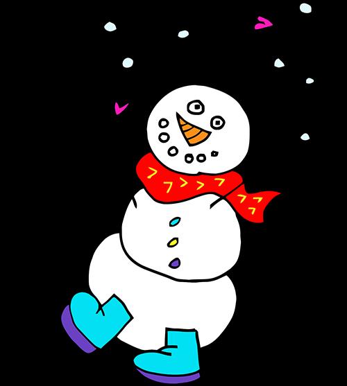 Illustration for winter programs at Lola's Lab.