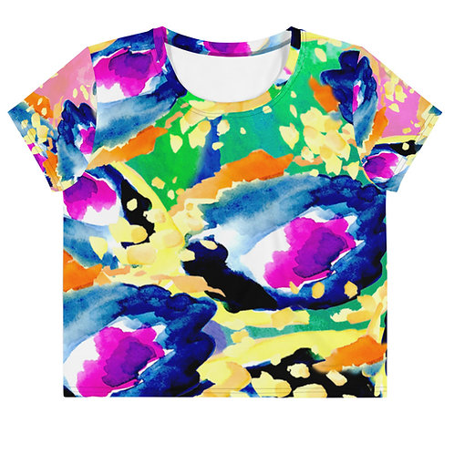 GLAM GAL-AXY - Green Atmospheric - All-Over Print Crop Tee